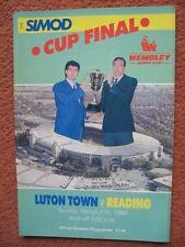 LUTON TOWN v READING SIMOD CUP FINAL 1988 @WEMBLEY