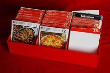 VINTAGE: 1950's - 1970's MARSHALL CAVENDISH INTERNATIONAL FOOD RECIPE CARDS BOX