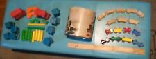 Lot of Vintage Wooden Children's Toys, Playskool Blocks, Brio Trains Etc.