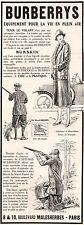 ▬► PUBLICITE ADVERTISING AD BURBERRYS costumes vêtements 1926