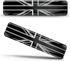 2 x 3D Aufkleber Großbritannien Silber Fahne Flagge Union Jack UK Flag Stickers