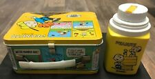 Peanuts Charlie Brown and Snoopy Vintage Thermos Metal Lunchbox, With Thermos
