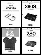 Fostex propietario y manuales de servicio de CD-R