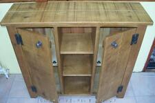 REAL SOLID WOOD SIDEBOARD BOOKCASE CABINET CUPBOARD RUSTIC PLANK PINE FURNITURE