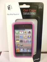 iCONCEPTS 2 PACK PINK/CLEAR iPOD TOUCH 4 GEL CASE