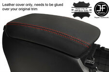 RED  STITCHING ARMREST LID REAL LEATHER COVER FITS INFINITI Q50 2013-2017