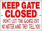 GOAT SIGN, Aluminum Sign,Animals,Farm,chickens,horses,llama,H3125G