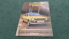 January 1982 TOYOTA STARLET 1.0GL 1.3GL - UK BROCHURE - L&S COPCUTT Worksop