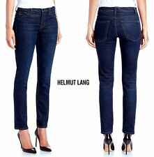 NWT $295 HELMUT LANG ANKLE SKINNY STRETCH DARK BLUE JEAN. MADE IN USA. SZ 24