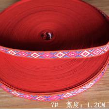 5 Yards Retro Embroidered Diamond lattice Trim Decorative lace ribbon 12mm