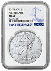 2017 1 oz. American Silver Eagle NGC MS69 First Releases SKU44390