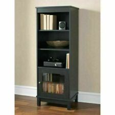 Mainstays 3-Drawer Media Storage Shelf Cabinet - Black/Cherry
