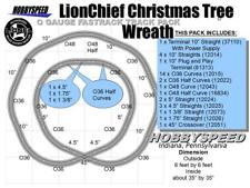 LIONEL FASTRACK LIONCHIEF CHRISTMAS TREE WREATH LAYOUT 6'x6' pack Train track