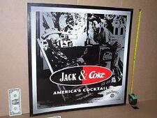 COKE & JACK DANIEL'S WHISKEY / Coca-Cola - Vintage PORCH SCENE - BIG Sign -> WOW