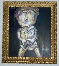 Jean Dubuffet oil on canvas painting signed & stamped FRAMED