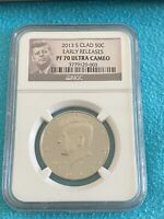 2013S Kennedy Half Clad PF70 Ultra Cameo NGC Early Releases Pop Count 695 ONLY!