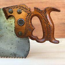 PREMIUM Quality! UNUSED! Antique DISSTON #112 RIP SAW Old Vintage Hand Tool #201