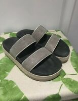 EUC Brunello Cucinelli Monili Bead Platform Wedge Slide Sandal 7.5