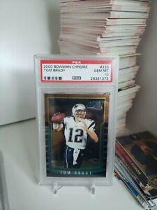 2000 Bowman Chrome Tom Brady RC #236 PSA 10 Gem Mint 💎 Rookie Invest GOAT 🐐
