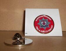 Northamptonshire FIRE e Rescue Service bavero pin badge