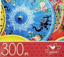 "CARDINAL 300 Piece Puzzle 14"" x 11"" Paper Parasols Hard/Small Pieces New"