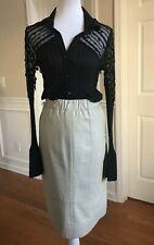 Dero Enterprises By Rocco Vintage Beige Leather Skirt Size 12