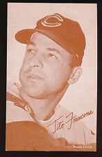1963 Exhibit Supply Co Stat Back -TITO FRANCONA (Cleveland Indians)