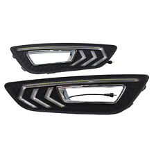 For Ford Focus 2012-2016 White Light DRL Daytime Running Light Fog Lamp Cover