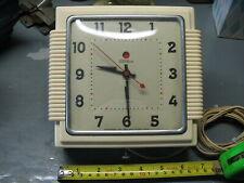 TELECHROM ART  DECO BAKELITE   WALL  CLOCK MODEL 2 H15S  N. P. 319 TESTED V NICE