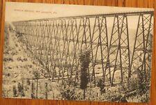 Mt. Jewett PA * Kinzua Bridge  1908 McKean Co. POSTED - RPPC (like)