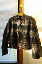 50s vtg Sears Roebuck Fieldmaster black leather jacket in steerhide size 38