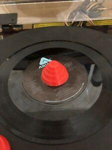 "DEVO Inspired 45 RPM 7"" Record Adapter & LP Album Topper"
