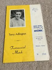 More details for 1966 terry adlington testimonial programme hand signed by 6 arsenal players