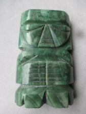 FABULOUS CARVED MEXICAN JADE MAYAN FIGURE