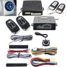 Universal Car Alarm System Keyless Entry Push Button Remote Engine Start/Stop