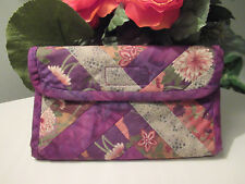 Handmade Batik patchwork Fabric Wallet. pre owned condition