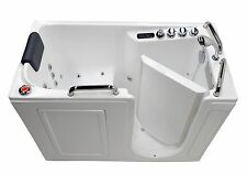"27"" x 53"" Right Drain Air & Whirlpool Fully Loaded Walk In Bathtub ~ 2753 White"