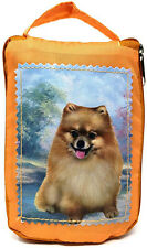 Pomeranian Foldable Tote Bag - Durable, Waterproof - Zippered Market Tote