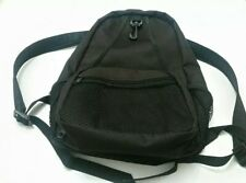 womens size small medium backpack canvas satchel rucksack zipped pockets black