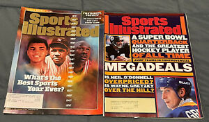 """Sports Illustrated """"Best Sports Year Ever?"""" and """"Megadeals"""" 1996, 1999 Very Good"""