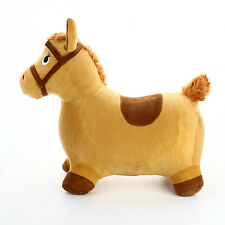 Bouncy Horse Inflatable Hopping Toy Ride Plush Bouncer Toddler Jumping Pony New