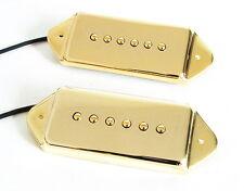 Artec Alnico 5 P90 Dog Ear Arched Pickup Set Gold