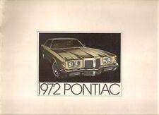 Pontiac Ventura LeMans Firebird Bonneville Grand Prix 1972 USA Market Brochure