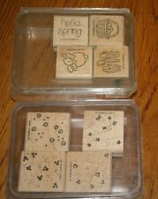 8 STAMPIN' UP! RUBBER STAMPS 1997 & 2001 SPRING