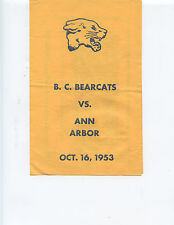 1953 BATTLE CREEK HIGH vs ANN ARBOR HIGH SCHOOL FOOTBALL PROGRAM (MICHIGAN)