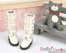 ☆╮Cool Cat╭☆【17-02】Blythe Pullip Doll Shoes Boots # White