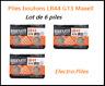 Lot de 6 Piles bouton LR44 G13 de marque MAXELL, livraison rapide et gratuite