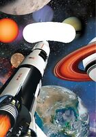SPACE BLAST Birthday Party Range - Rocket Ship Planets Tableware & Decorations
