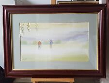 SIGNED NICK GRANT WATERCOLOR PAINTING SUTTON GOLF COURSE 1993