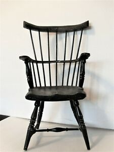 Vintage Doll Chair black